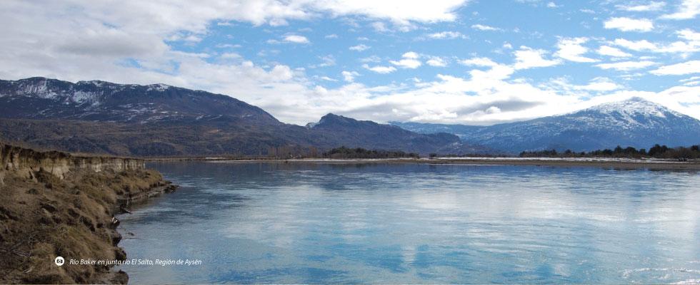 Río Baker en junta río El Salto, Región de Aysén